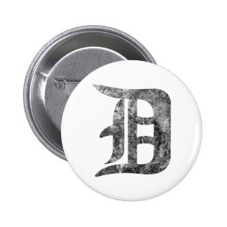 Detroit D wash Pinback Button