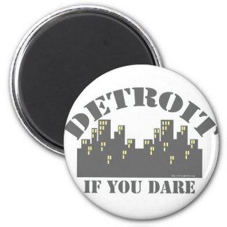 Detroit Dare 2 Inch Round Magnet