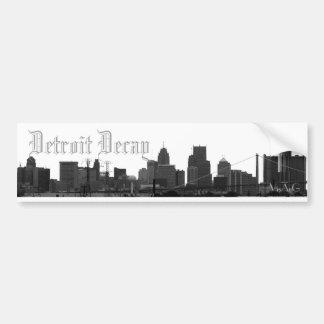 Detroit Decay (skyline sticker) Bumper Stickers