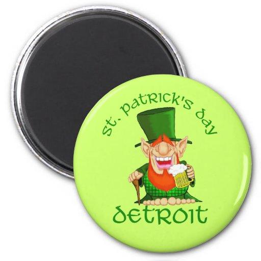 ~ Detroit del día del St Patricks Imán De Nevera