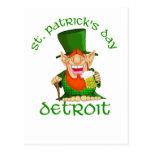 ~ Detroit del día del St Patricks Tarjetas Postales