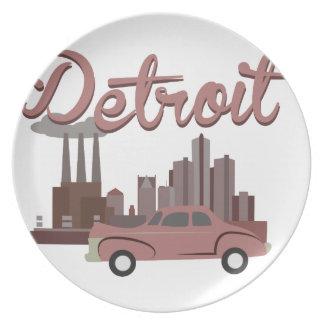 Detroit Dinner Plate