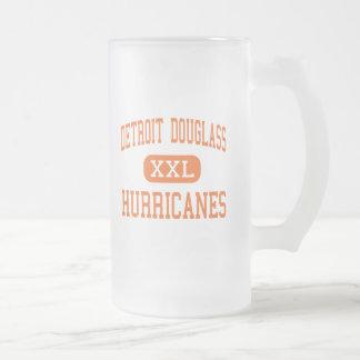 Detroit Douglass - Hurricanes - High - Detroit 16 Oz Frosted Glass Beer Mug