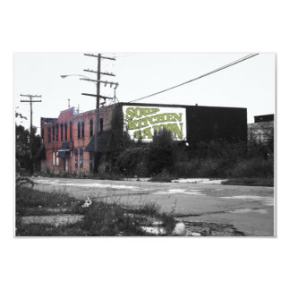 Detroit Downtown destroyed streets Custom Announcement