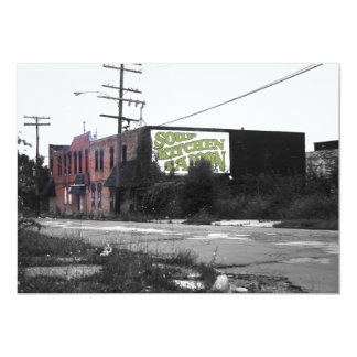 Detroit Downtown destroyed streets Personalized Invite
