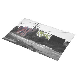 Detroit Downtown destroyed streets Placemat