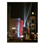 Detroit - Downtown lights Post Card