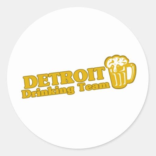 Detroit Drinking Team tee shirts Sticker