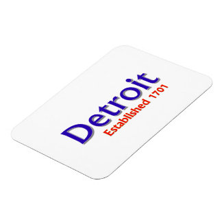 "Detroit Established 3""x4"" Flexible Magnet"