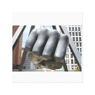 Detroit. fist canvas print