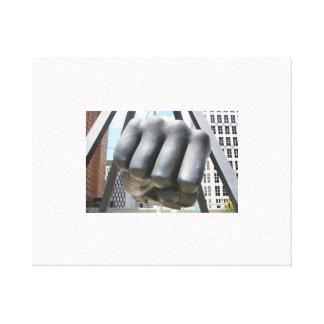 Detroit fist canvas print