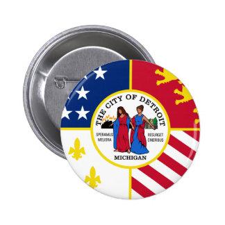 Detroit Flag Button