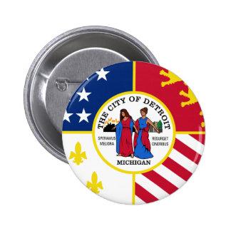 Detroit Flag Pin