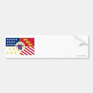 Detroit Flag Car Bumper Sticker
