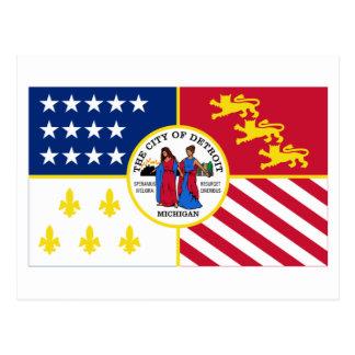 Detroit Flag Post Card