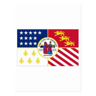 Detroit Flag Postcard