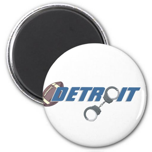 Detroit Football - Breaking the Law 2 Inch Round Magnet