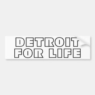 Detroit For Life Bumper Sticker
