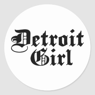 Detroit Girl Classic Round Sticker