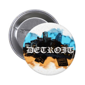 Detroit Graffiti Pinback Button
