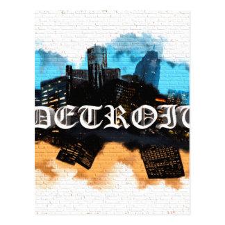 Detroit Graffiti Postcard