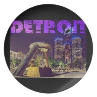 Detroit Hart Plaza Melamine Plate