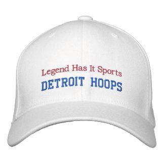 Detroit Hoops Embroidered Baseball Cap