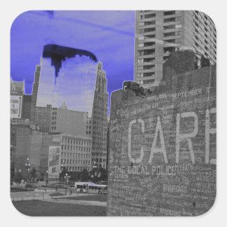 Detroit Hope Square Sticker