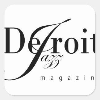 Detroit Jazz Magazine Square Sticker