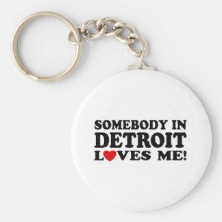 Detroit Keychain