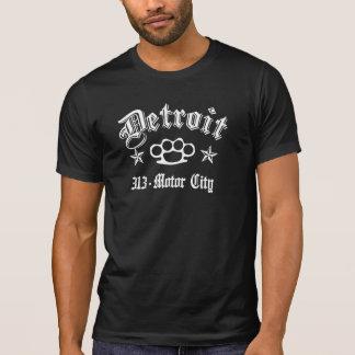 Detroit Knuckles la ciudad de 313 motores Tshirt