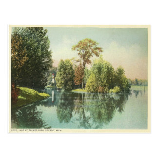 Detroit, Lake at Palmer Park Post Card