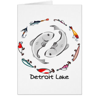 Detroit Lake ying Card