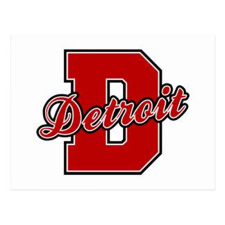 Detroit Letter Postcard