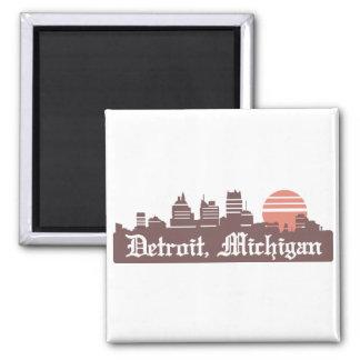 Detroit Linesky 2 Inch Square Magnet