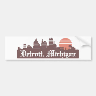Detroit Linesky Bumper Sticker