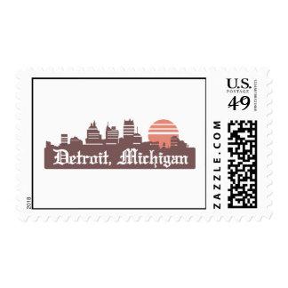 Detroit Linesky Postage Stamp