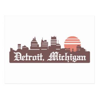 Detroit Linesky Postcard
