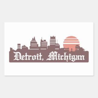 Detroit Linesky Rectangular Sticker