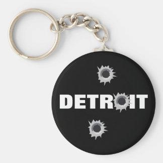 Detroit Llavero Redondo Tipo Pin