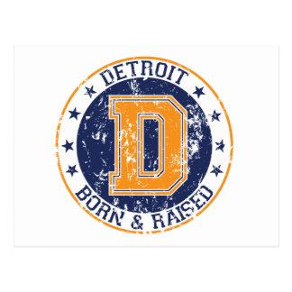 Detroit llevada y aumentada postal