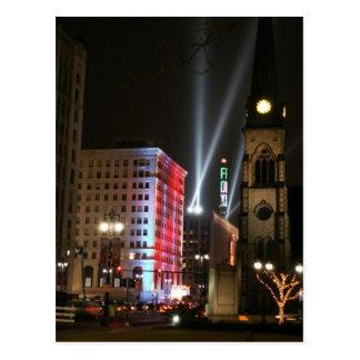 Detroit - luces céntricas postal