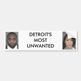 Detroit más indeseada pegatina para auto