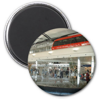 Detroit Metropolitan Wayne Country Airport 2 Inch Round Magnet