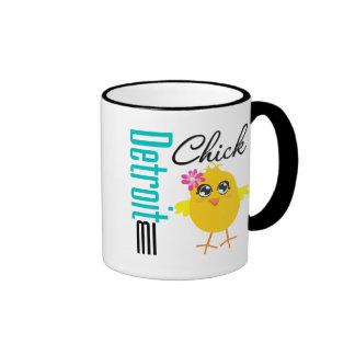 Detroit MI Chick Ringer Mug