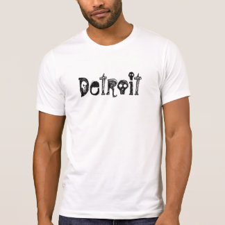 Detroit MI Goth Skull Gothic Gift Light T-shirt