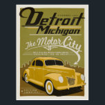 """Detroit, MI Postcard<br><div class=""""desc"""">Anderson Design Group is an award-winning illustration and design firm in Nashville,  Tennessee. Founder Joel Anderson directs a team of talented artists to create original poster art that looks like classic vintage advertising prints from the 1920s to the 1960s.</div>"""