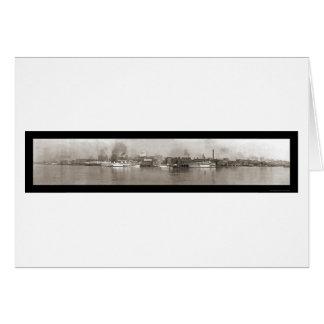 Detroit, MI Riverfront Photo 1908 Greeting Card