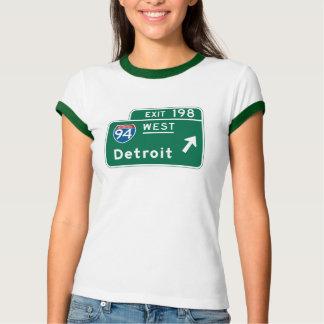 Detroit, MI Road Sign T-Shirt