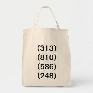 Detroit Michigan Area Code Transition Tote Bag